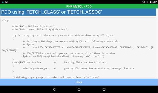 ... PHP MySQL Connectivity- screenshot thumbnail ...