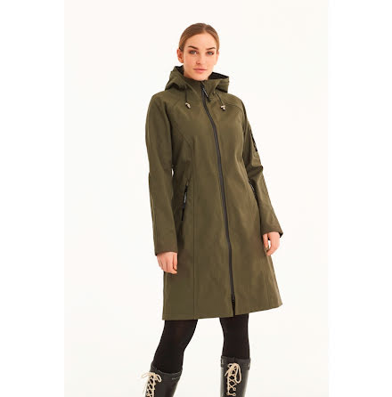 Ilse Jacobsen 3/4 length raincoat army