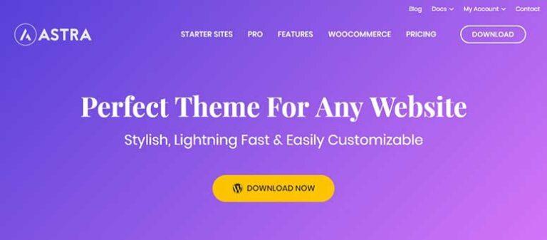 Astra lightweight themes