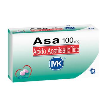 Asa 100mg MK Tabletas