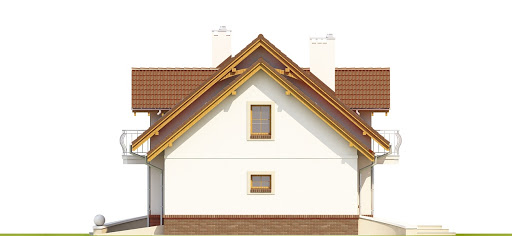Dom Dla Ciebie 1 w3 z garażem 2-st. A1 - Elewacja prawa