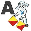 Mabry Flag semaphore alphabet icon