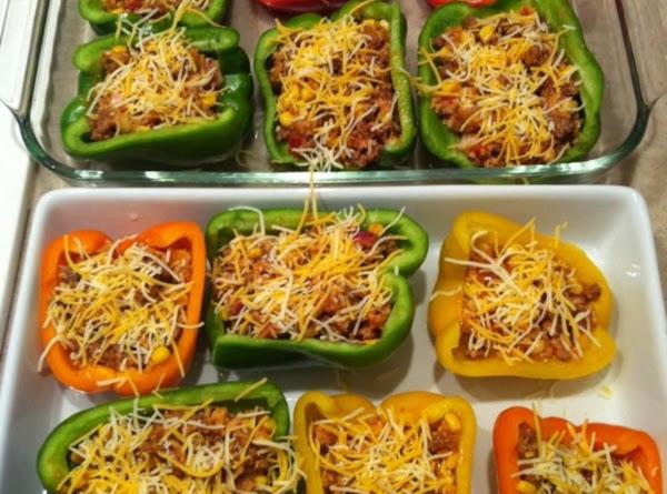 Tri-color Stuffed Peppers Recipe