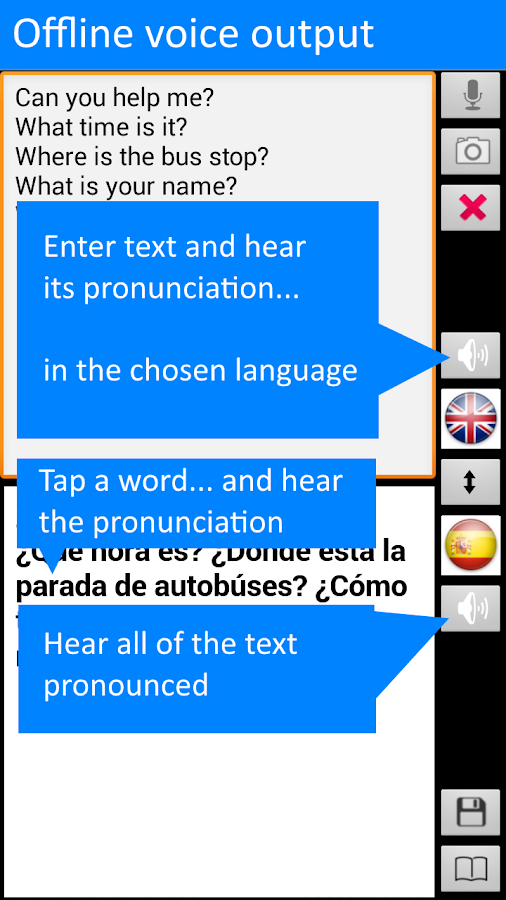 Translate Offline Spanish Free- screenshot