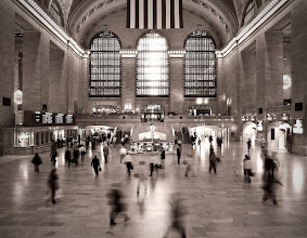 Photo: This is one of my favorite shots from New York City. I was in New York on business and I was staying near by so I walked over early in the morning just before the morning rush hour was starting. I set my camera on the railing of the center staircase and took this shot. I was glad that the shutter speed was somewhat slow so that I could get a bit of motion in the shot.  As always, feedback and constructive criticism are welcome.
