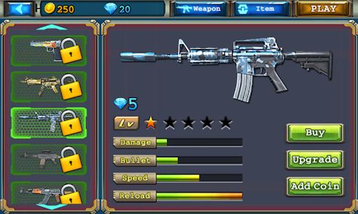 Crossfire : Zombie Defender- screenshot