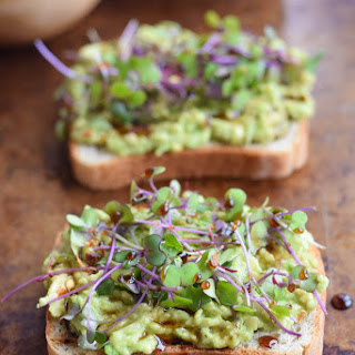Avocado Toast with Microgreens.