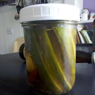 Beer Brine Refrigerator Pickle Recipe