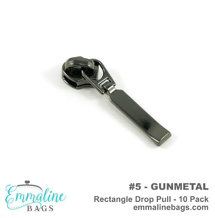 Emmaline Blixtlåsdragare Gunmetal #5 (16209)