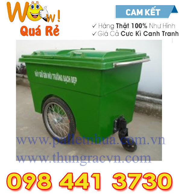 www.kenhraovat.com: Thùng rác 660 lít composite
