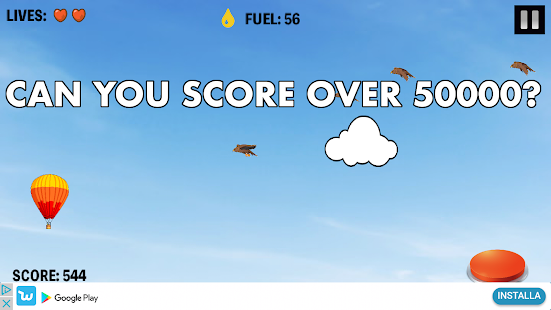 Hot Air Balloon Rush: can you score over 50000? - náhled