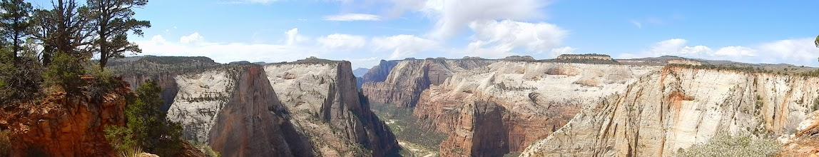 Photo: Panorama atop Observation Point.