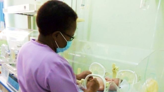 Eunice Mwabili works at a private hospital in the Kenyan capital.
