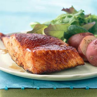 Maple-Glazed Salmon.