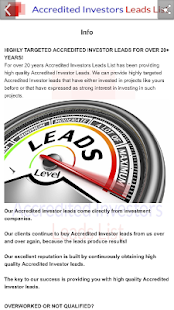 Accredited Investor Leads List- screenshot thumbnail