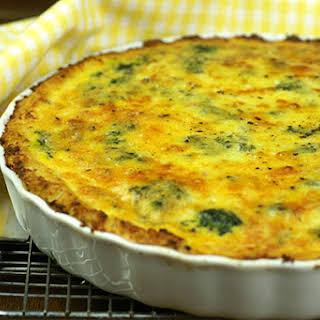 Cauliflower Cheese Quiche.