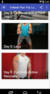 4 Week Plan 'Fat Loss' - náhled