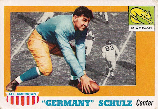 Photo: Germany Schulz 1955 Topps All American RC