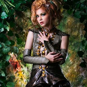 reptile lady ... by Rolando Eduard - People Fashion