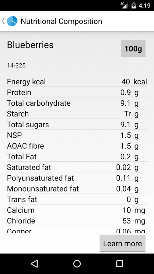 Nutrimen- screenshot