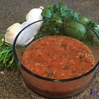 Homemade Roasted Mild Salsa