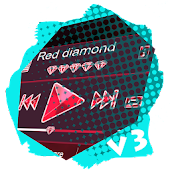 Red diamond PlayerPro Skin