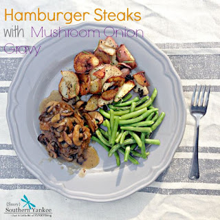 Hamburger Steak with Mushroom Onion Gravy Gluten Free