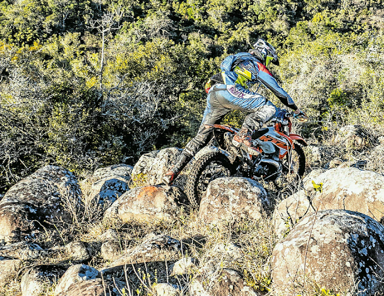 A rider battles through the course during the Battle Valleys Enduro held at Trennerys last weekend.
