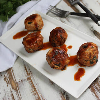 BBQ Chicken Meatballs.