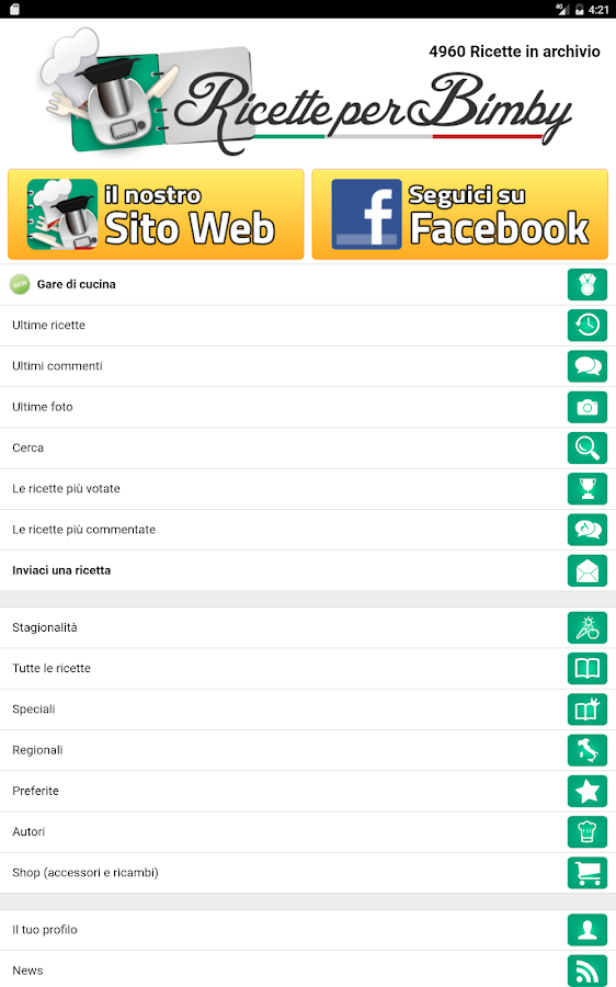abbastanza Ricette per Bimby - Android Apps on Google Play JI45