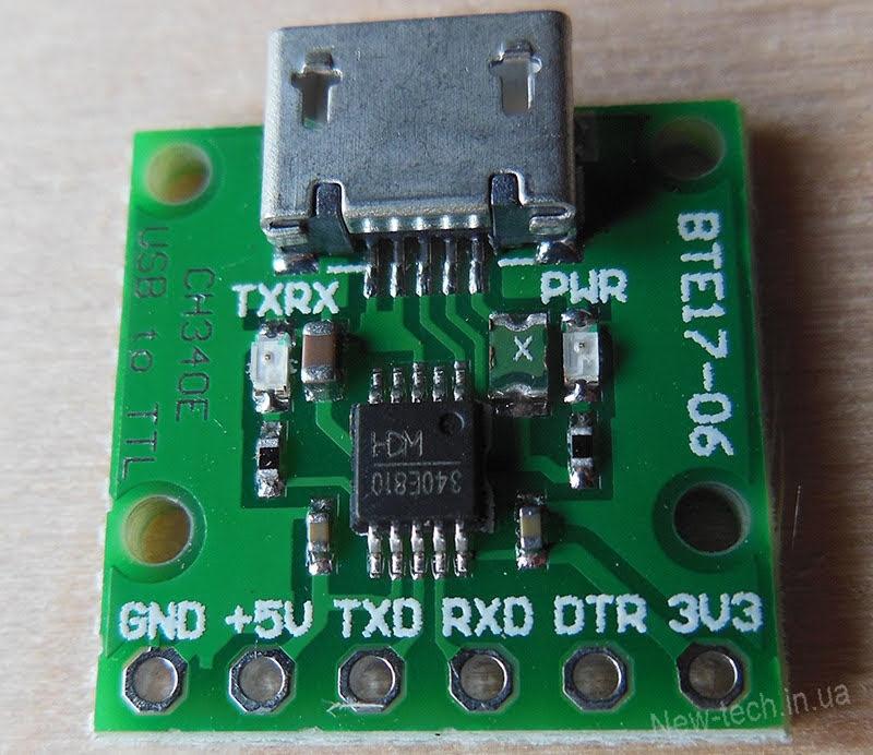 CH340E USB to TTL Serial Converter