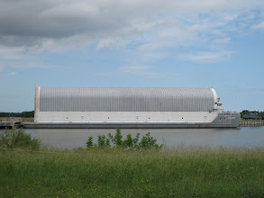 Photo: the barge used to carry the big orange external tanks from Louisiana to Florida.