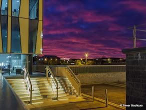 Photo: Aberdeen Sunset; Sir Duncan Rice Library, University of Aberdeen