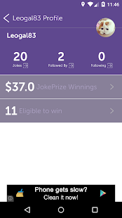 Win CA$H For Jokes- screenshot thumbnail