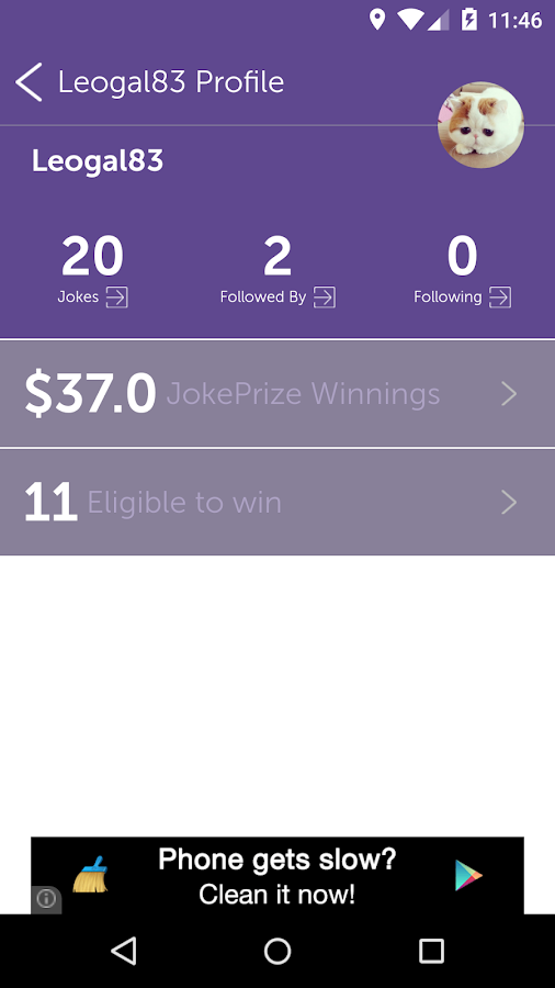 Win CA$H For Jokes- screenshot