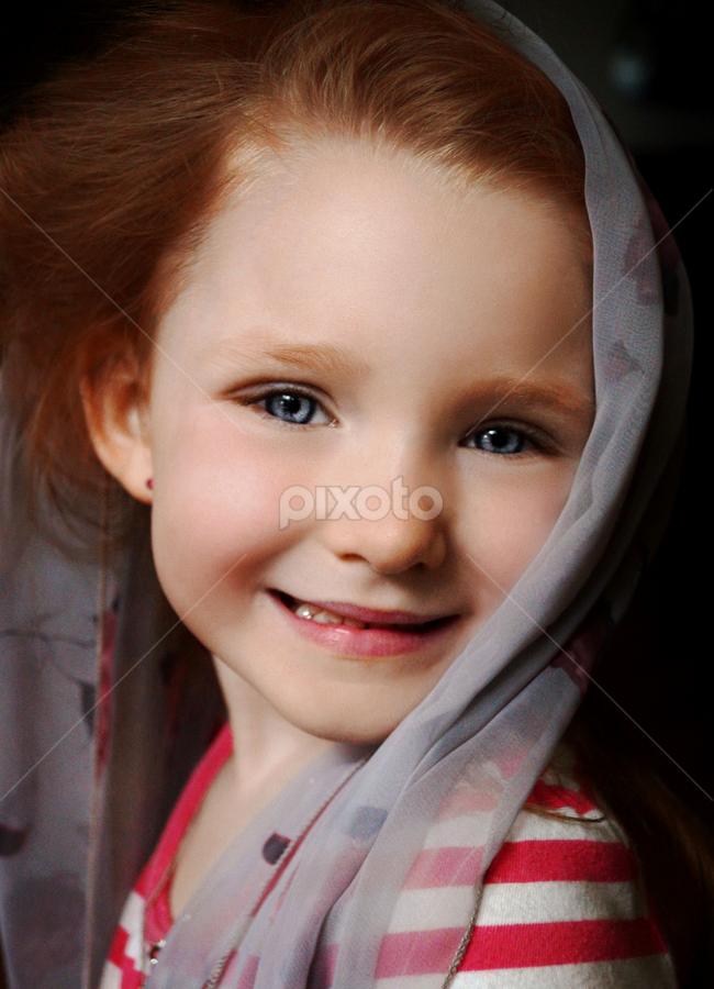 Soft Veil by Cheryl Korotky - Babies & Children Child Portraits