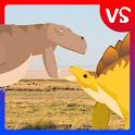 T-Rex Fights Stegosaurus icon