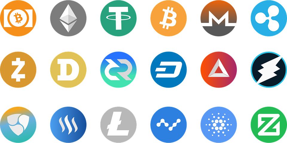 severala types of cryptocurrencies
