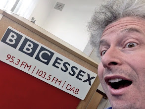 Photo: Robert visiting Tony Fisher's BBC ESSEX afternoon show on 3rd April