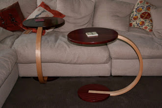 Photo: Shep's sofa tables Jarrah & Rock Maple For enjoying the ent cent