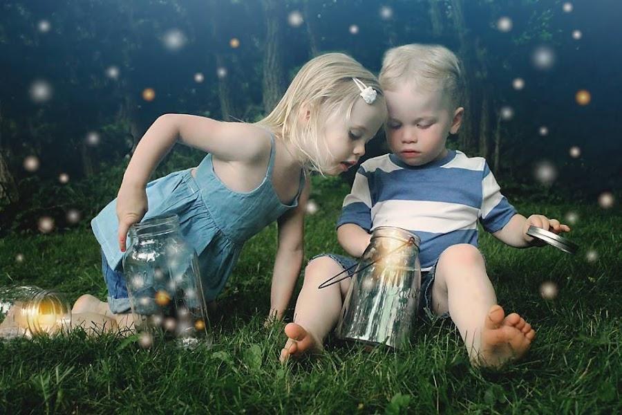 Catching lightning bugs:) by Elizabeth Haag - Babies & Children Toddlers ( KidsOfSummer )