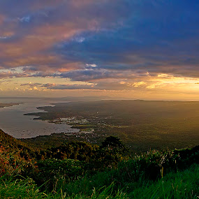 Taal Panoramic view by Christopher Imperial - Landscapes Mountains & Hills ( volcano, mountain, sunset, lake, landscape )