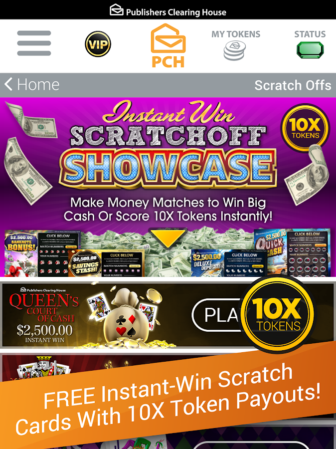 Screenshots of The PCH App for iPhone