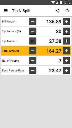 tip n split tip calculator androidアプリ applion