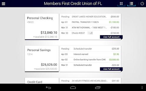 Members First Credit Union FL- screenshot thumbnail