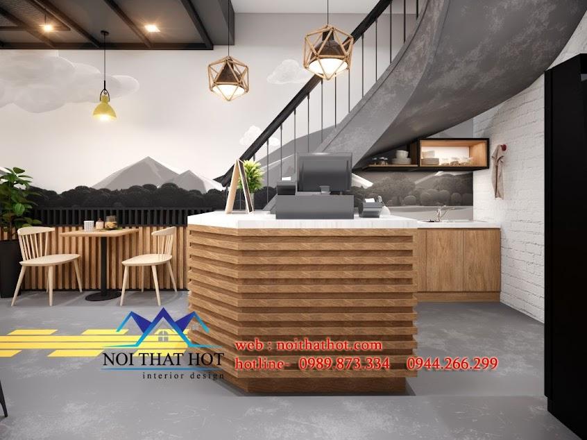 thiết kế quán ăn nhanh tại long biên
