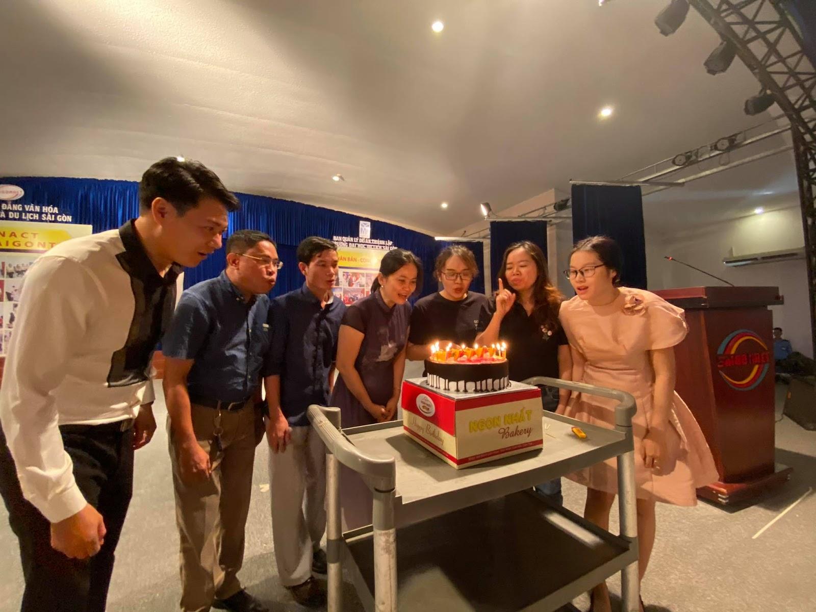 Công đoàn Nhà trường tổ chức sinh nhật cho cán bộ nhân viên có Tháng sinh 1,2,3,4