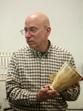 Photo: Mike Colella brought this spalted-box-elder deep vessel with rim and foot detail.