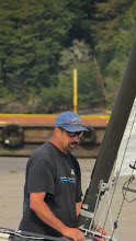 Photo: Lonnie Byers - having a moment with his boat.