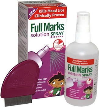 Full Marks Solution Head Lice Spray with Comb